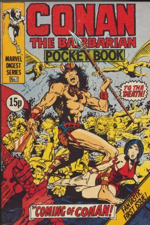 CONAN THE BARBARIAN POCKET BOOK No.1 - Coming of Conan